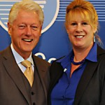 President Bill Clinton and MaryBeth Powers
